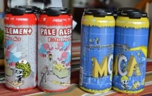 PIcture of cans of beer