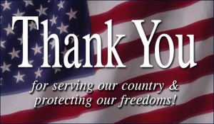 PIcture of Veterans day Thank You