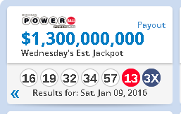 Picture of Powerball prize